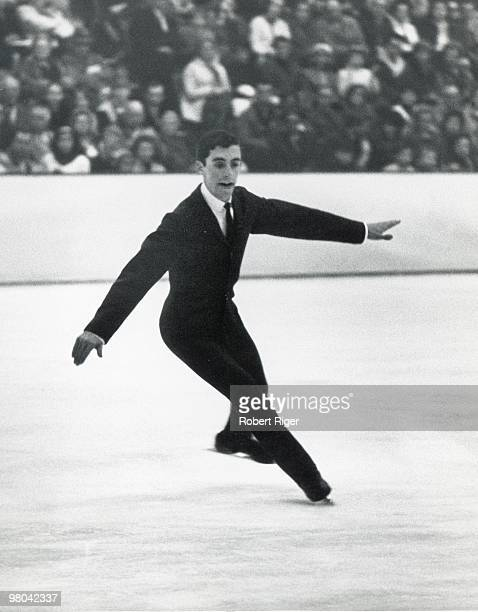 Gary Visconti of the United States competes in Men's figure skating at the 1968 Winter Olympics in Grenoble France
