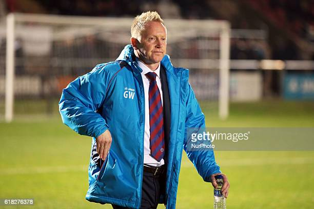Gary Waddock manager of Aldershot Townduring Dagenham and Redbridge against Aldershot Town Vanarama National League Football at Chigwell Construction...