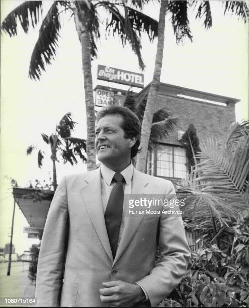 "Gary Waterford at the site of the new International Hotel to be called the ""Seabreeze"", The Name of The Present Hotel he owns on the site. October 5,..."