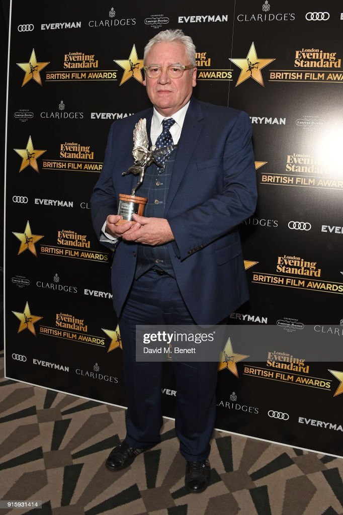 Gary Williamson poses with the Technical Achievement award for 'The Paddington 2' at the London Evening Standard British Film Awards 2018 at Claridge's Hotel on February 8, 2018 in London, England.
