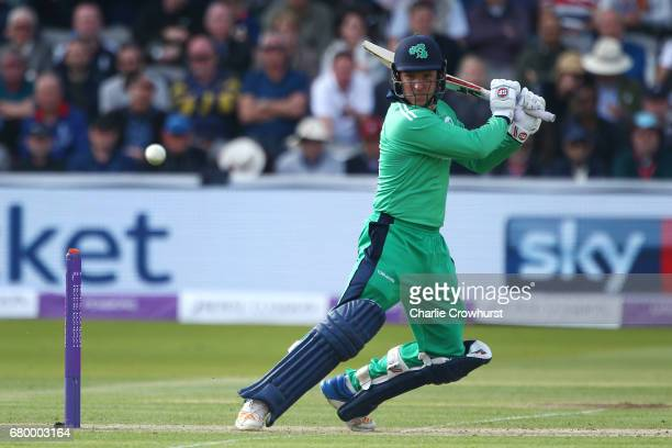 Gary Wilson of Ireland hits out during the Royal London ODI between England and Ireland at Lord's Cricket Ground on May 7 2017 in London England
