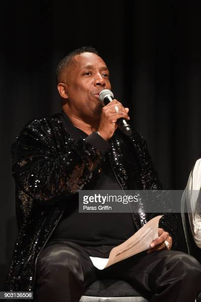 Gary With Da Tea speaks at 'Growing Up Hip Hop Atlanta' season 2 premiere party at Woodruff Art Center on January 9 2018 in Atlanta Georgia