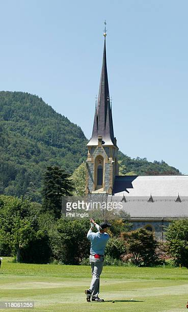 Gary Wolstenholme of England in action during the final round of the Bad Ragaz PGA Seniors Open played at Golf Club Bad Ragaz on July 3, 2011 in Bad...