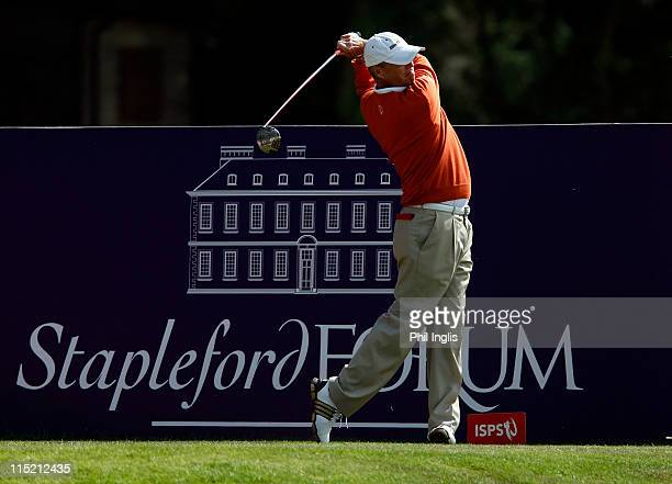 Gary Wolstenholme of England in action during the second round of the Handa Senior Masters presented by the Stapleford Forum played at Stapleford...