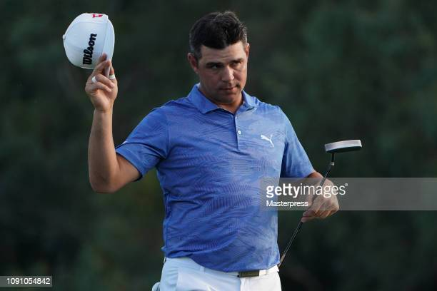 Gary Woodland of the United States applauds after the final round of the Sentry Tournament of Champions at the Plantation Course at Kapalua Golf Club...