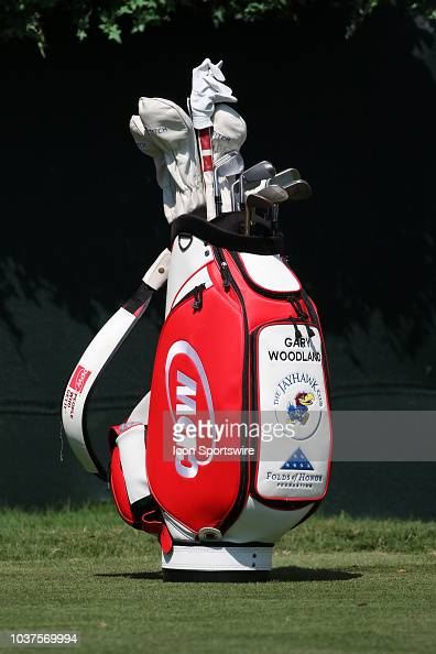 Gary Woodland S Cdw Golf Bag During The