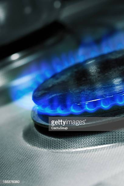Gas, blue flame