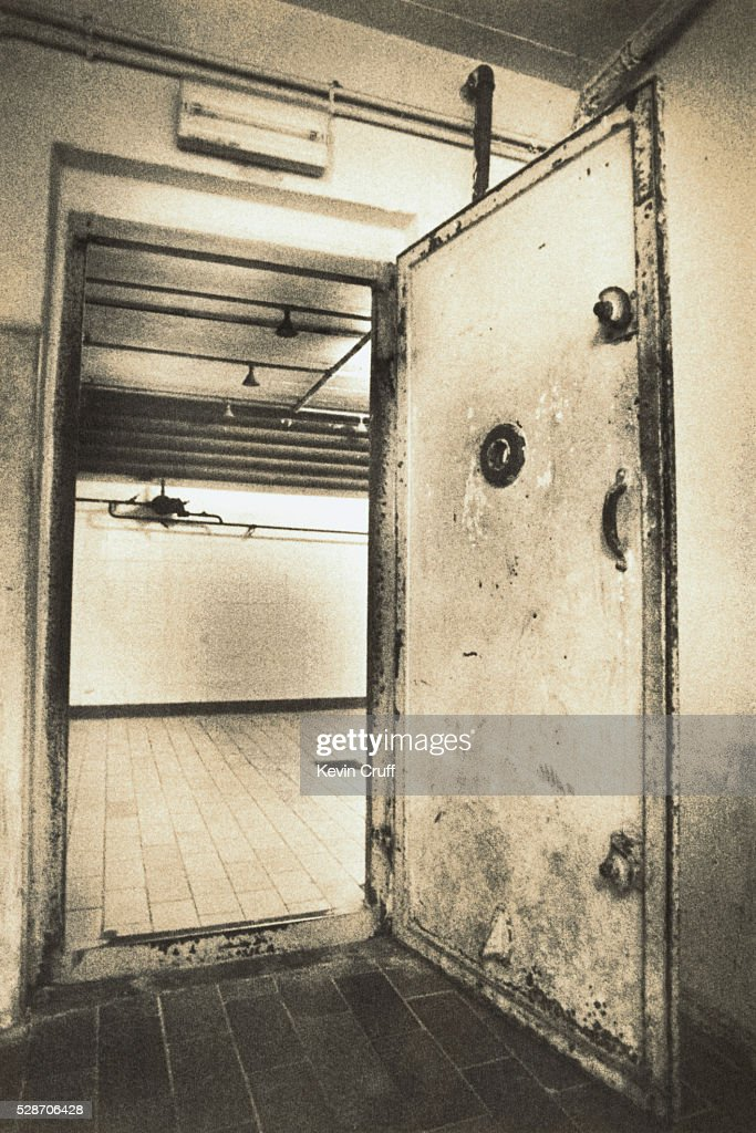 Gas Chamber Door At Nazi Wwii Concentration C& By Kevin Cruff Stock Photo | Getty Images & Gas Chamber Door At Nazi Wwii Concentration Camp By Kevin Cruff ...