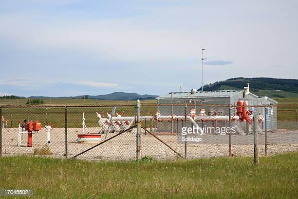 Gaskompressor Station In landwirtschaftliche Ambiente