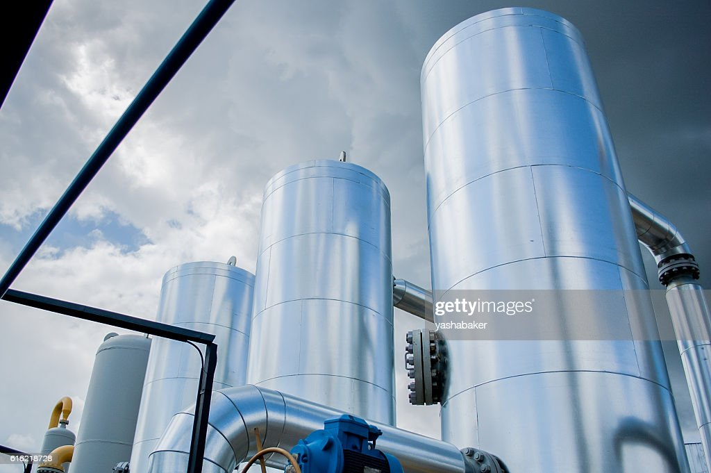 Gas compressor station in Ukraine : Bildbanksbilder