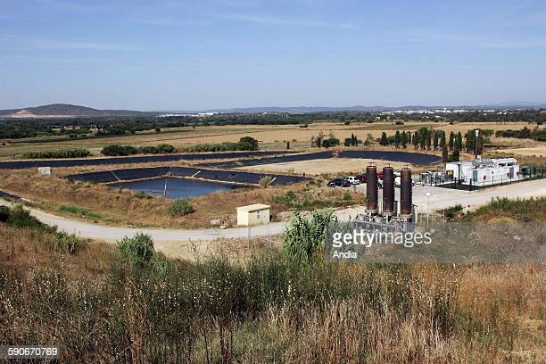 Gas drainage network at the garbage dump of Le Thot south of Montpellier For the next 15 years more than a hundred wells will recycle the biogas...