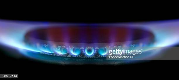 Gas flame, close-up