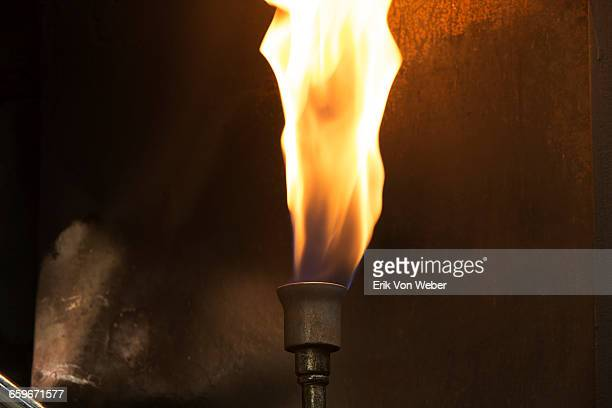 gas flame for melting enamel onto jewelry