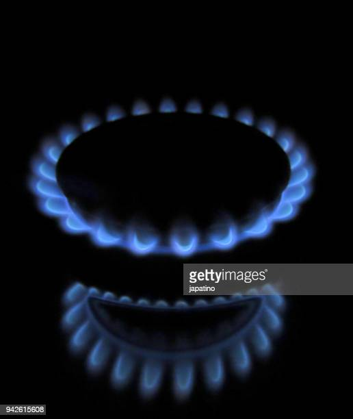Gas flame in a kitchen