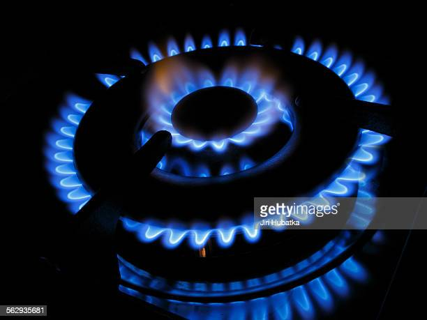 Gas flame of a gas stove