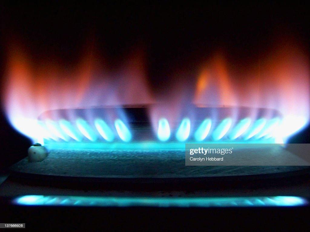 Gas flame : Stock Photo