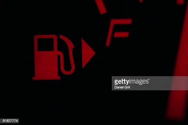 Gas gauge in a car