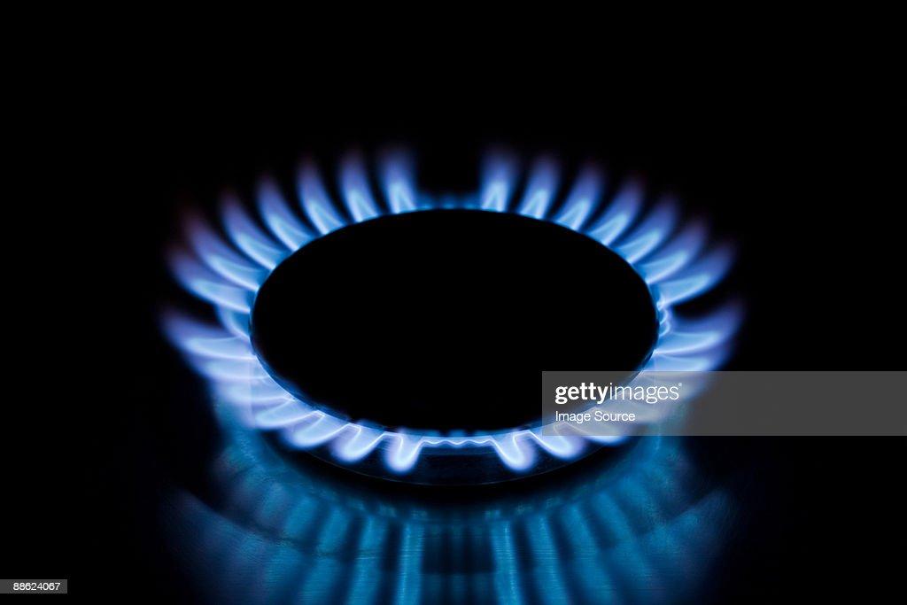 Gas hob : Stock Photo