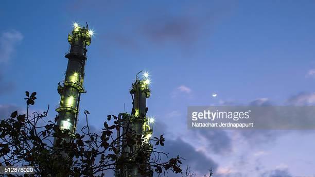 Gas Industrial Refinery plant twilight