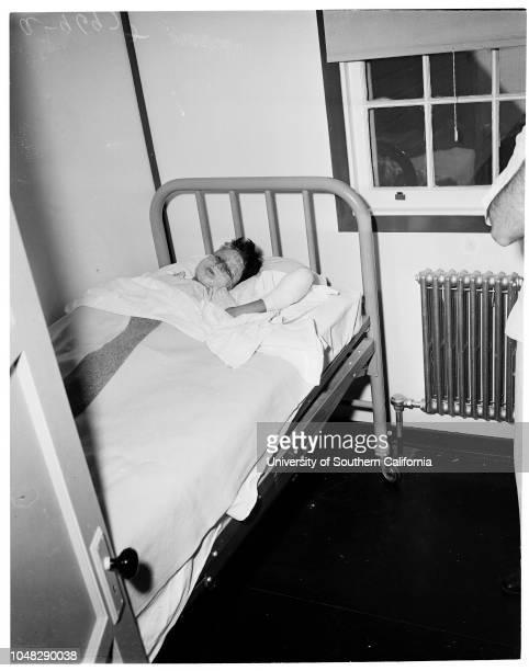 Gas line explosion , Lawndale, December 20 1952. At Harbor General Hospital;Thomas Arrendondo -- 7 years, injured;Lola Davis ;Luz Arrendono -- 10...