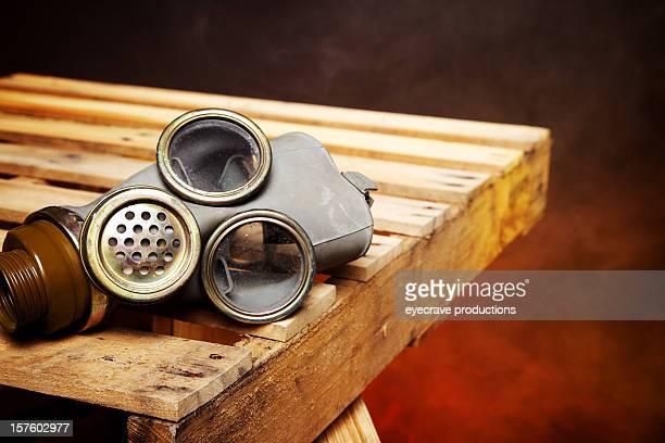 máscara anti-gás crise dispositivo de proteção da - cinza nuclear - fotografias e filmes do acervo