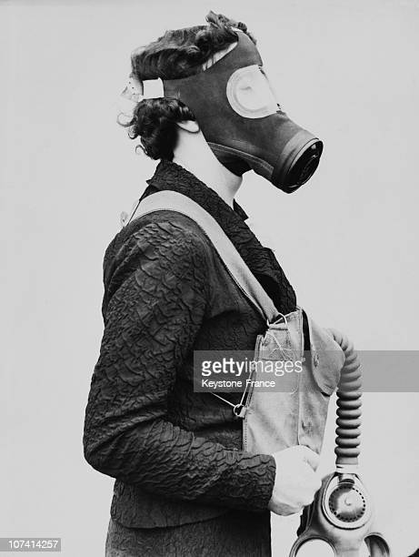 Gas Mask For Civilians At Hendon In England On July 1936