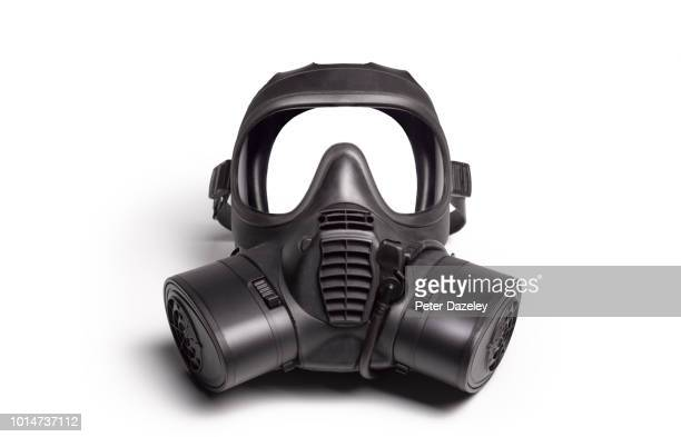 gas mask on white - gas mask stock pictures, royalty-free photos & images