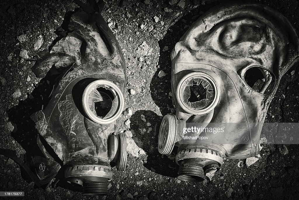 Gas masks. : Stock Photo