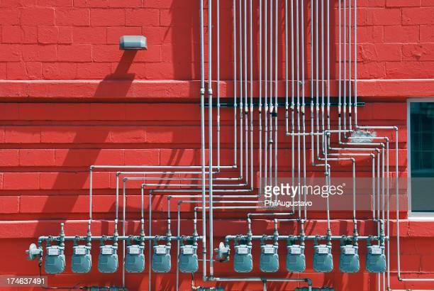 Gas mètres sur manufactory
