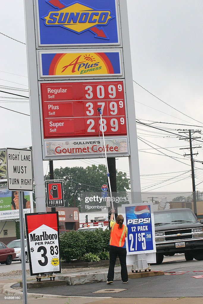 Cleveland Gas Prices >> Gas Prices Are Changed Outside A Sunoco Station In Cleveland