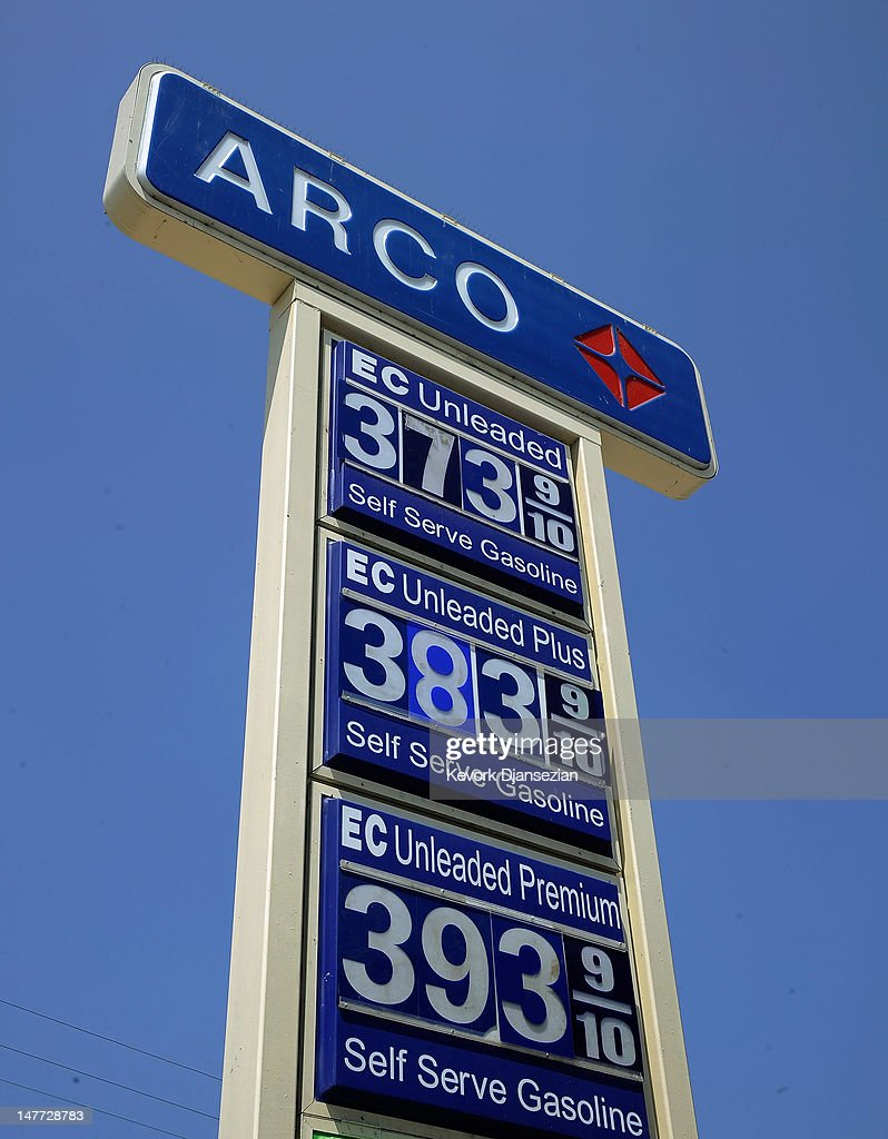 Arco Gas Prices >> Gas Prices Are Displayed At An Arco Station On July 2 2012