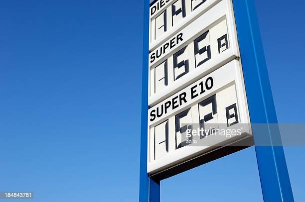 Gas Preise in Euro