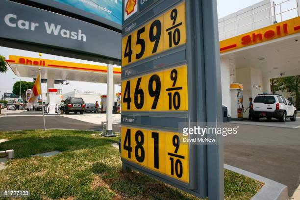 Gas prices which are typical of the region continue climbing toward the $5 mark at a Shell station which now also has a hydrogen fuel pump on the...