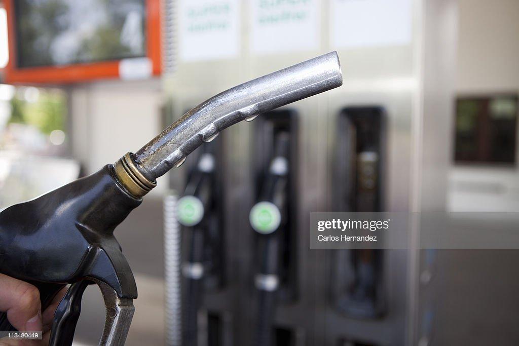 Gas pump nozzle : Stock Photo