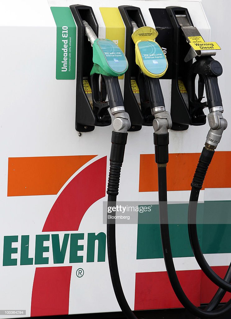 Gas pumps are seen at a 7-Eleven store in Sydney, Australia, on Monday, May 24, 2010. 7-Eleven Australia is close to acquiring most of Exxon Mobil Corp's local filling stations, the Australian newspaper reported on its website on May 19, without saying where it got the information. Photographer: Ian Waldie/Bloomberg via Getty Images