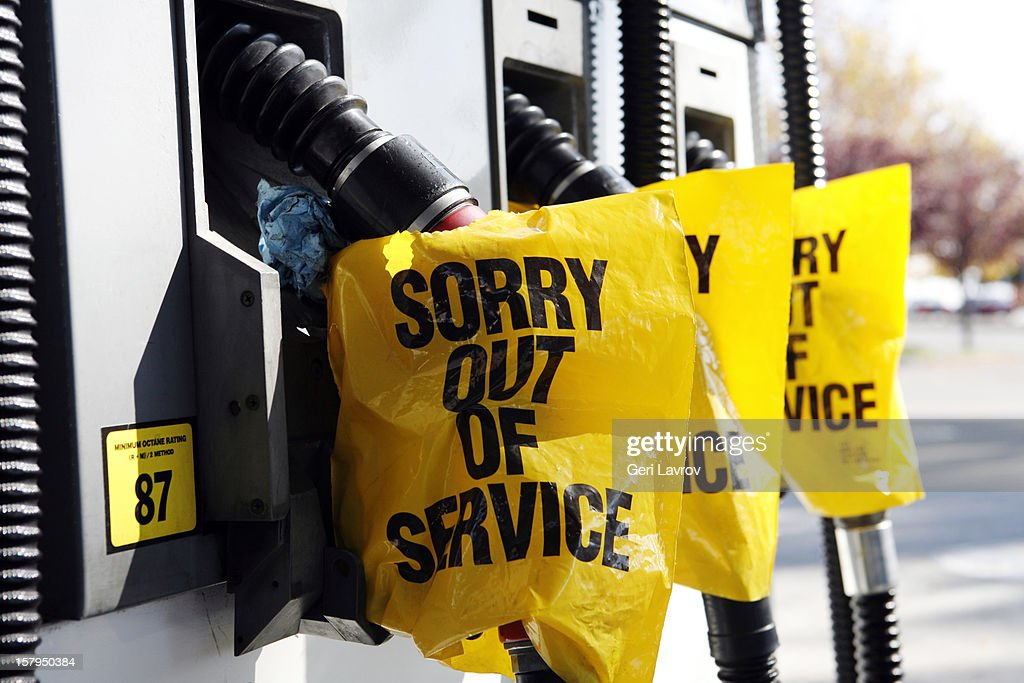 Gas pumps out of service : Stock Photo