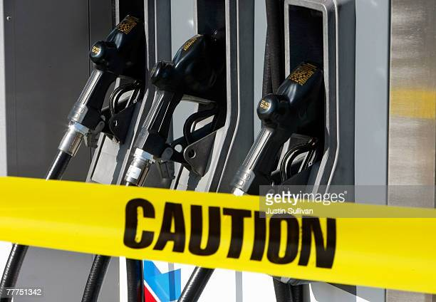Gas pumps that are under construction are seen at a Chevron service station November 6 2007 in San Francisco California The national average for a...
