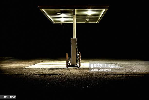 CONTENT] Gas Service station somewhere in Death Valley CA at night