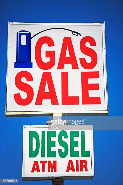gas sign - inexpensive stock photos and pictures