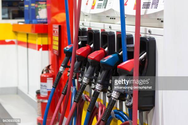gas station and pump - oil prices stock pictures, royalty-free photos & images