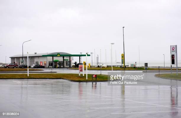Gas station at Borgarnes, Western region, Iceland
