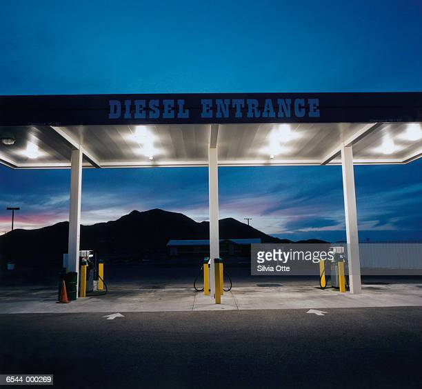 Gas Station at Sunset