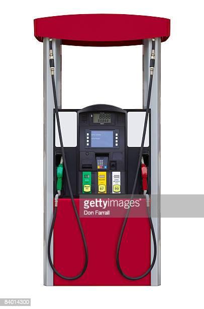 gas station fuel pump - distributore di benzina foto e immagini stock