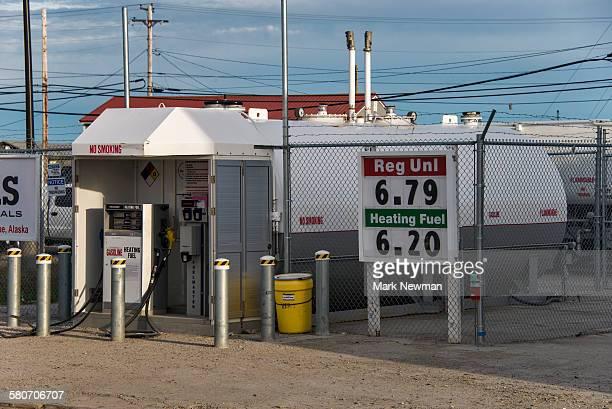 Gas station in remote Alaska