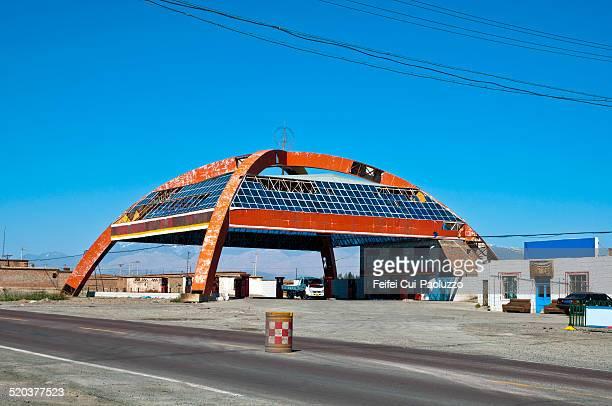 Gas station Near Turpan Xinjiang Province China