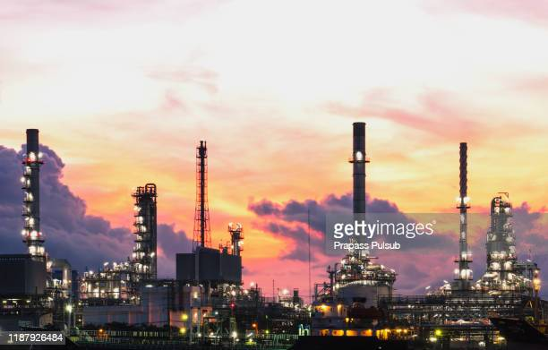 gas turbine electrical power plant at dusk with twilight - south east asia stock pictures, royalty-free photos & images