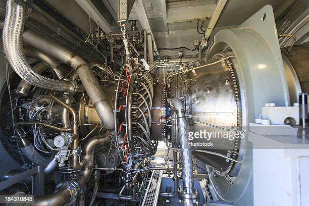 """Gas turbine bei einem Strom KWK-Anlage"""""""
