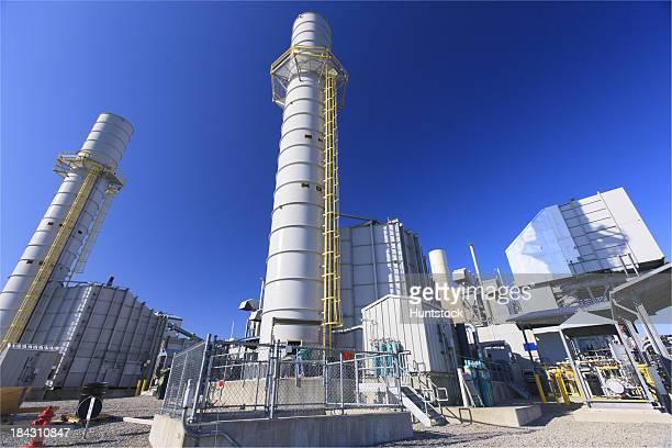 Gas turbine exhaust Stapel zu einem elektrisierenden KWK-Anlage