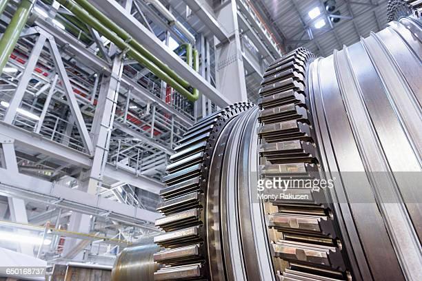 gas turbine under repair at gas-fired power station - monty rakusen stock-fotos und bilder