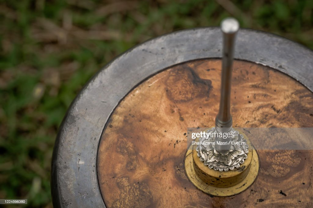 Gasing Or Tops Spinning Is A Traditional Games  In Malaysia : Stock Photo
